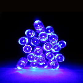 20 Blue LED Battery Operated String Lights with Static and Flicker Option