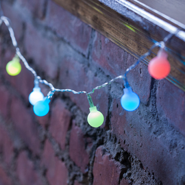 Frosted Color Changing Globe Battery String Lights, Strand of 10