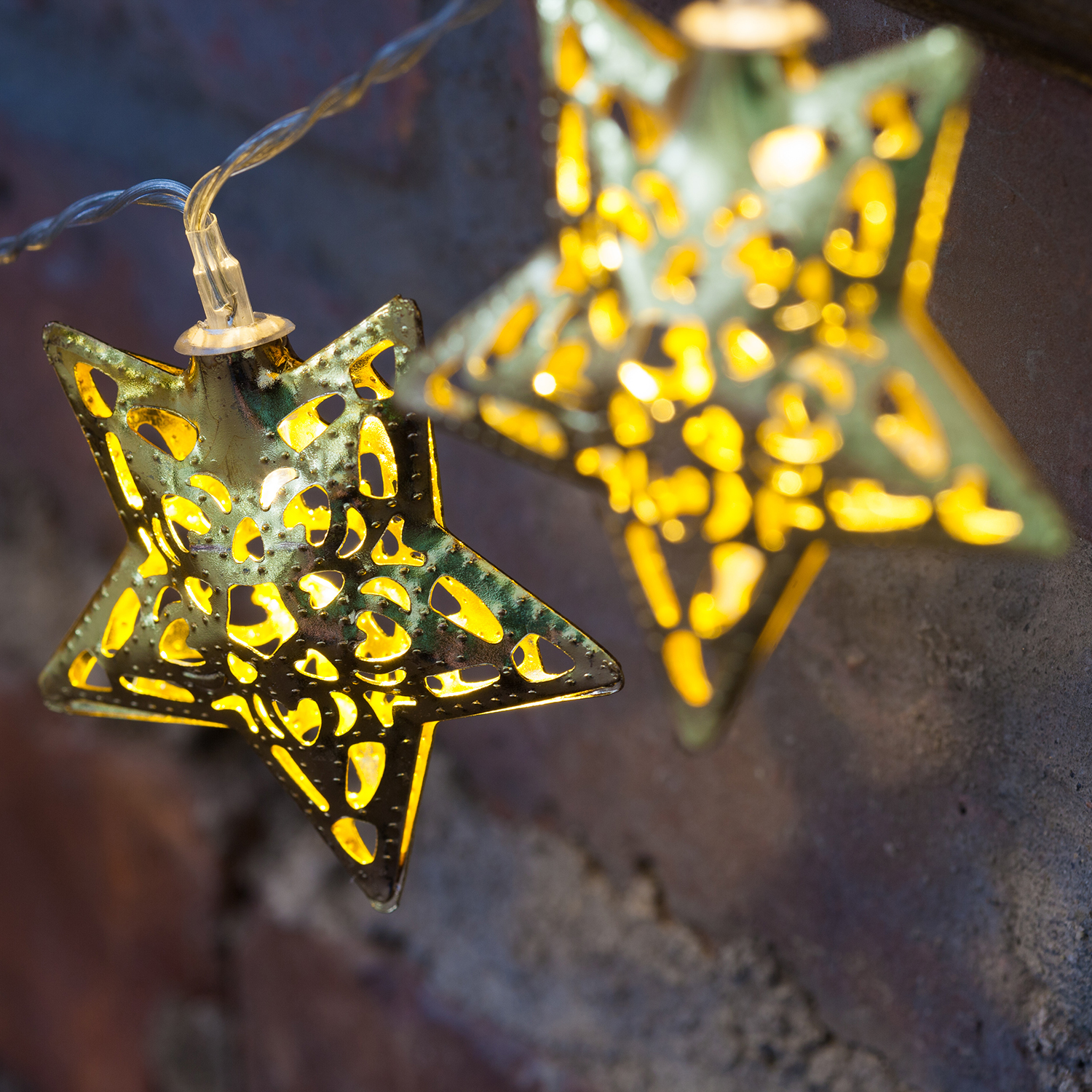 Metal Star String Lights : Events, Promotions and Inspirations from Lights.com
