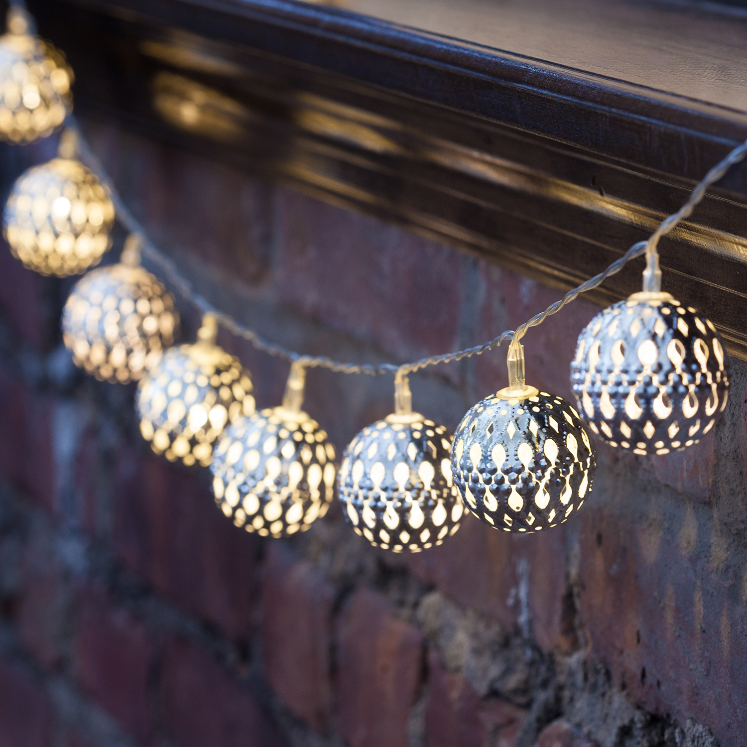 Kikkerland Moroccan String Lights : Lights.com String Lights Battery String Lights Moroccan Bauble Battery Operated String ...