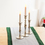Cyrus Flameless Wax Taper Candle, Set of 3