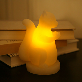 Squirrel Flameless Candle with Timer