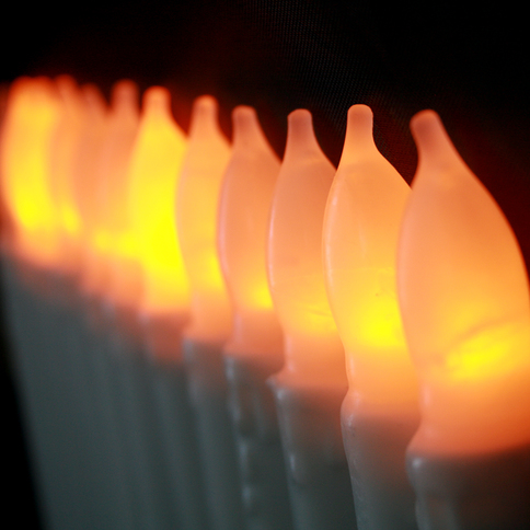 Flameless candles taper candles cyrus - Led a pile pour deco ...