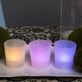 Color Changing Flameless Party Votives, Set of 3