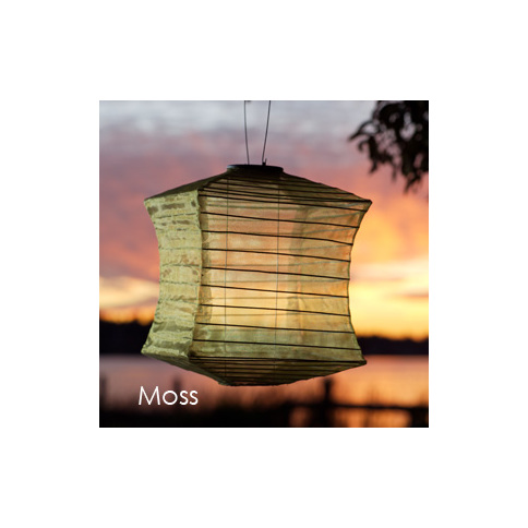 Moss Silk Effects Square Solar Lantern