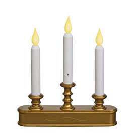 Brass Candelabra Traditional Battery Window Candle