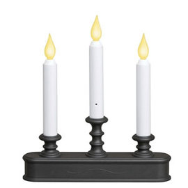 Aged Bronze Candelabra Traditional Battery Window Candle