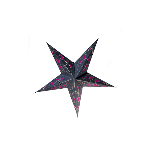 Blue / Pink Mango Handmade Paper Star Lamp with Plug-in Cord