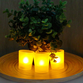 Battery Operated Amber Flickering Votives - Bulk 108