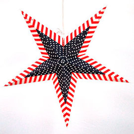 Patriot Series Paper Star Lantern with Plug-in Cord, Inner Star