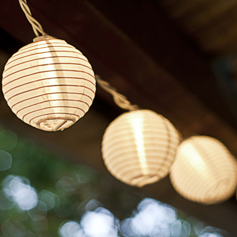 Paper Lantern String Lights Indoor : Lights.com String Lights Decorative String Lights White Mini Oriental Plug-in String ...