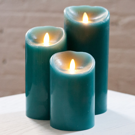 Blue Sage Moving Wick Flameless Candle Remote Ready