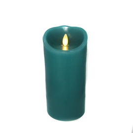 """Blue Sage 7"""" Flameless Moving Wick Candle, Remote Ready"""