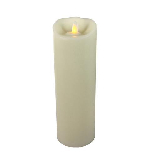 """Mirage 9"""" Ivory Flameless Candle with Timer"""