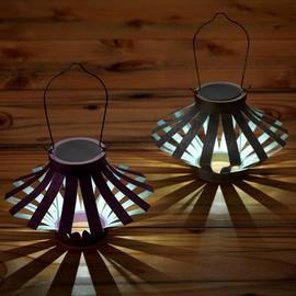 Soji Solar Starburst Lantern, Set of 2