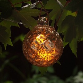 Amber Glow Aurora Solar String Lights, Strand of 6