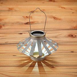 Silver Soji Solar Starburst Lantern, Set of 2