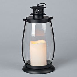 Classic Glass Lantern with Flameless Candle
