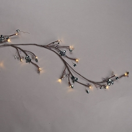 "Smoked Gray 72"" Mirrored Back Lighted Garland with Timer"