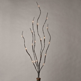 """Brown Wrapped 39"""" Lighted Branch"""