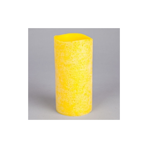 "Lemon Lava Brights Wax Candle with Timer - 3"" x 6\"""