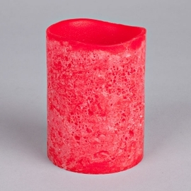Tangerine Lava Brights Wax Candle with Timer