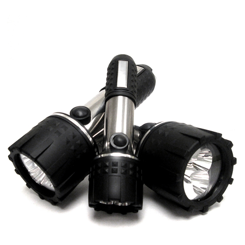 Stainless Steel Water Resistant Super Bright LED Flashlight, Set of 3