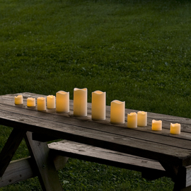 Flameless Resin Candles with Amber or Color Change Option, Set of 12