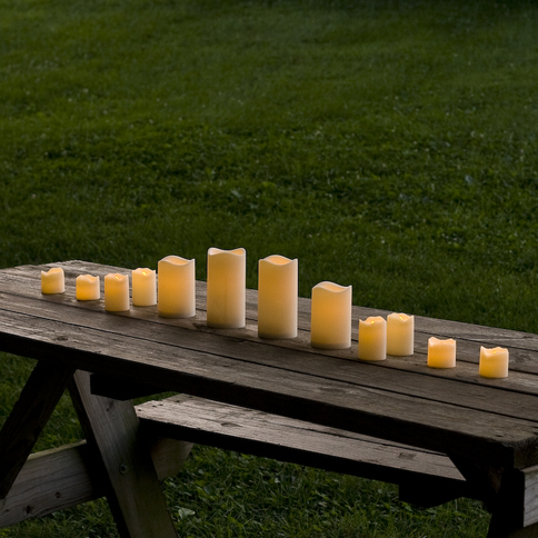 Flameless Resin Candles with Amber or Color Change Options, Set of 12