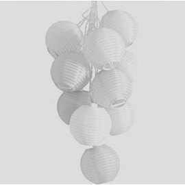 Mini Nylon Soji Solar String Lights, Bright White