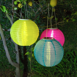 "Newport Beach 12"" Solar Lanterns, Set of 3"