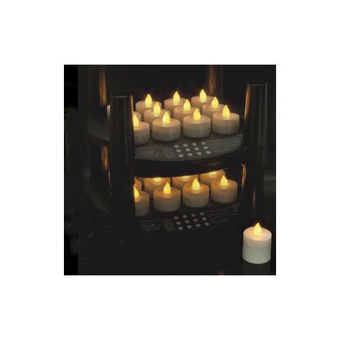 Easy Stack Rechargeable Tea  Lights, Set of 12