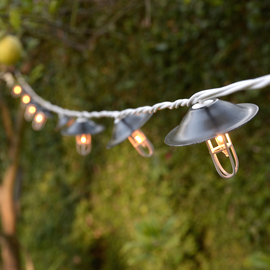 Tribeca Industrial Expandable Plug-in String Lights, Strand of 10