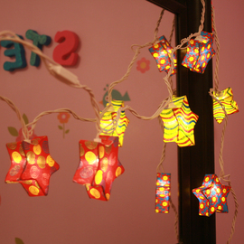 Circus Stars Expandable Plug-In String Lights, Strand of 10