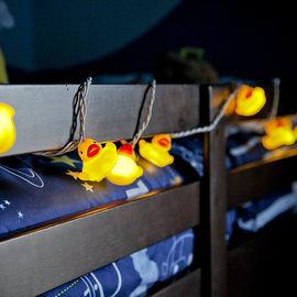 Rubber Ducky Expandable Plug-In String Lights, Strand of 10