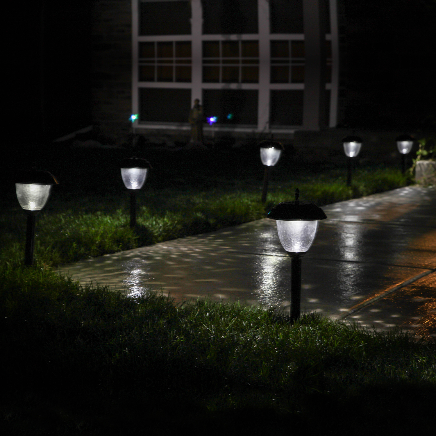 Backyard Lights Solar : Lightscom  Outdoor  Landscape  Willowbrook Gunmetal Solar Path