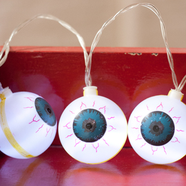 Cool White Eyeball Battery String Lights, Strand of 10