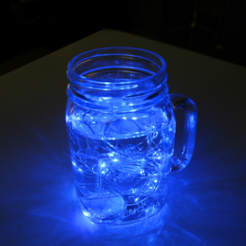 Luminescence Bright Blue Submersible String Lights, Strand of 15 - Set of 2