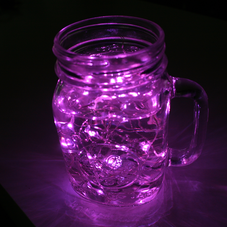 Lights.com String Lights Fairy Lights Luminescence Bright Pink Submersible String Lights ...