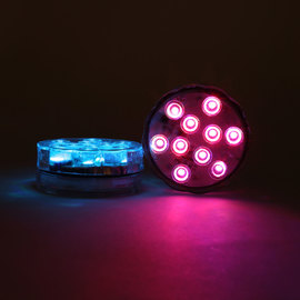 Luminescence Submersible Color Changing LED Disk with Remote, Set of 2