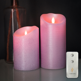 Orchid Moving Wick Flameless Candle with Remote