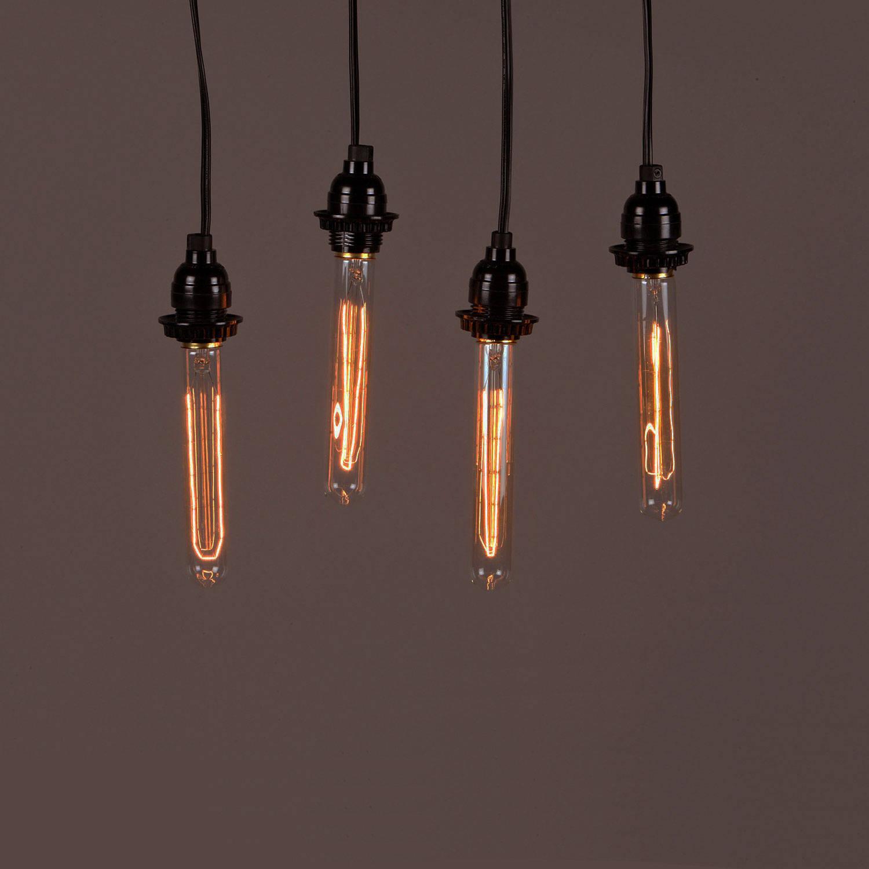 Edison Type String Lights : Lights.com Bulbs Edison Bulbs Cobble Hill Vintage Edison-type 40W Bulb T8 - 4 Pack