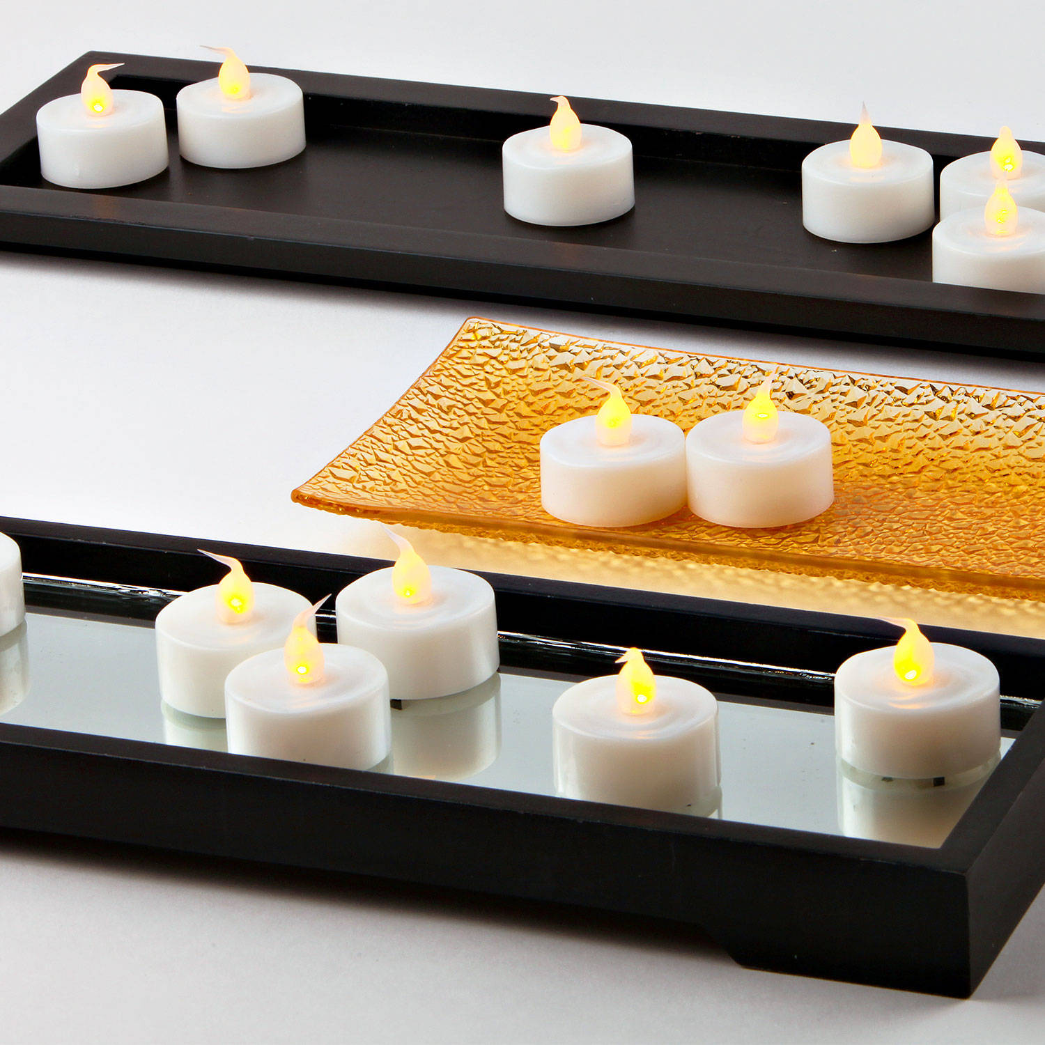 flameless candles tea lights extra bright battery tea. Black Bedroom Furniture Sets. Home Design Ideas