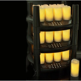 "Easy Stack Rechargeable 3"" Votives  Set of 12"