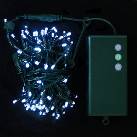 Cool White 100 LED Connectable Battery String Lights (31 ft.)