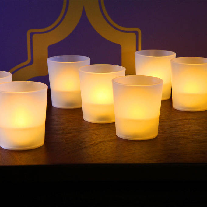 Warm White Flameless Party Votives - Set of 12