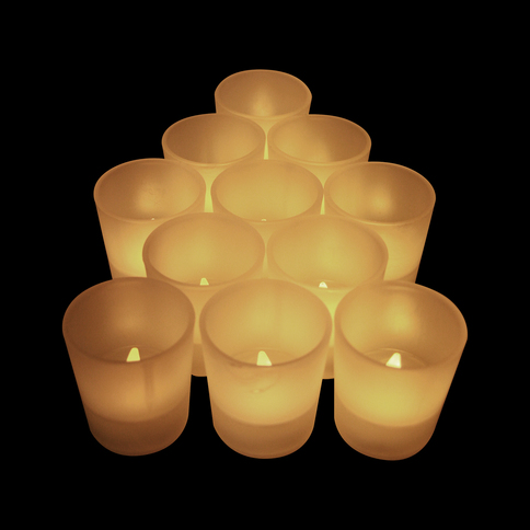 bulk led tea lights flameless candles votive warm. Black Bedroom Furniture Sets. Home Design Ideas