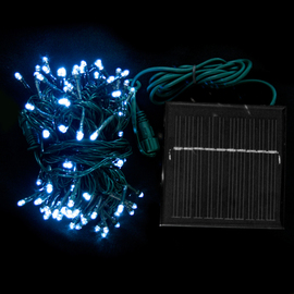 Cool White 100 LED Connectable Solar String Lights (31 ft.)