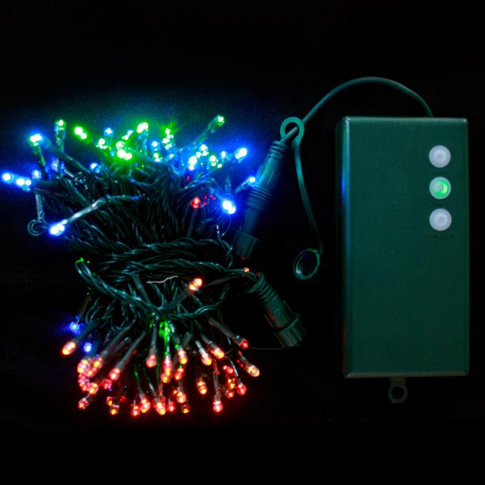 Lights.com String Lights Christmas Lights Multicolor 100 LED Connectable Battery String Lights