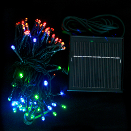 Multicolor 100 LED Connectable Solar String Lights (31 ft.)